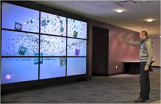 Yahoo S Gesture Based Interactive Video Wall Digital
