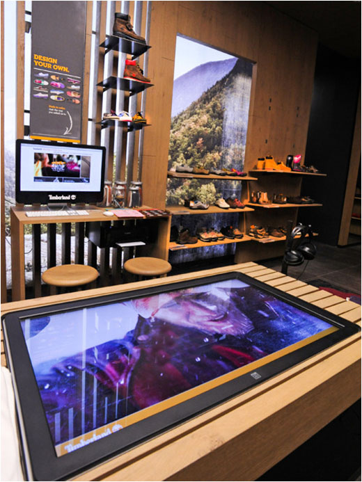 Timberland Launches New Interactive Retail Concept Using