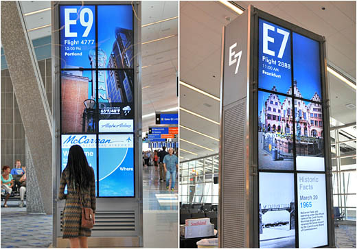 Las Vegas S Mccarran Airport Features Interactive Digital