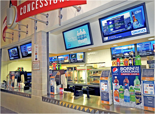 Pnc Arena S Concession Stands Feature New 160 Screen